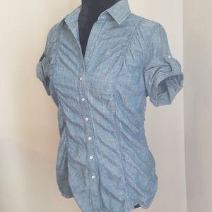 Express denim short sleeve shirt